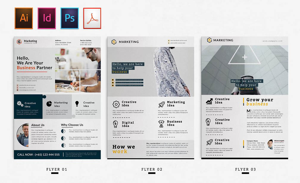Corporate InDesign Flyer Template