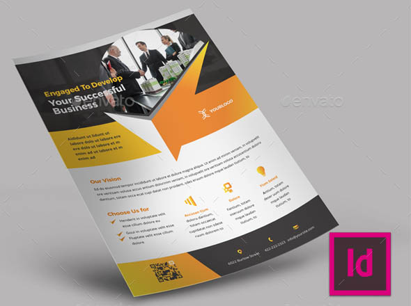 Creative Business Flyer for InDesign
