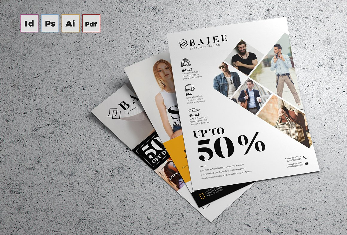 Fashion Flyer Template for InDesign