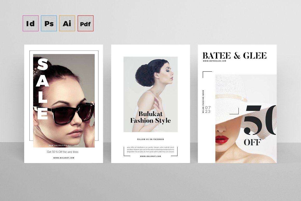 Fashion Postcards for InDesign