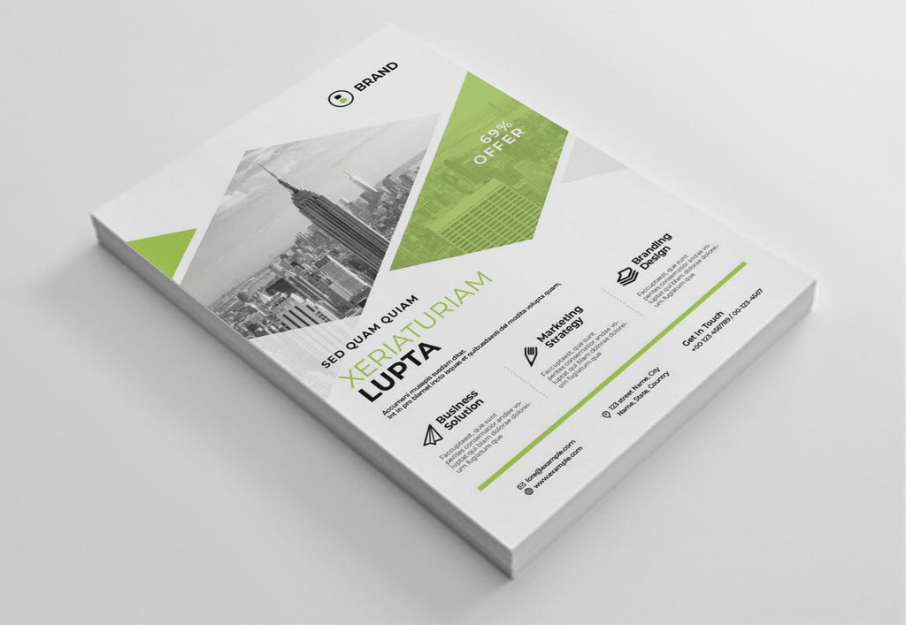 Green Corporate Business Flyer for InDesign