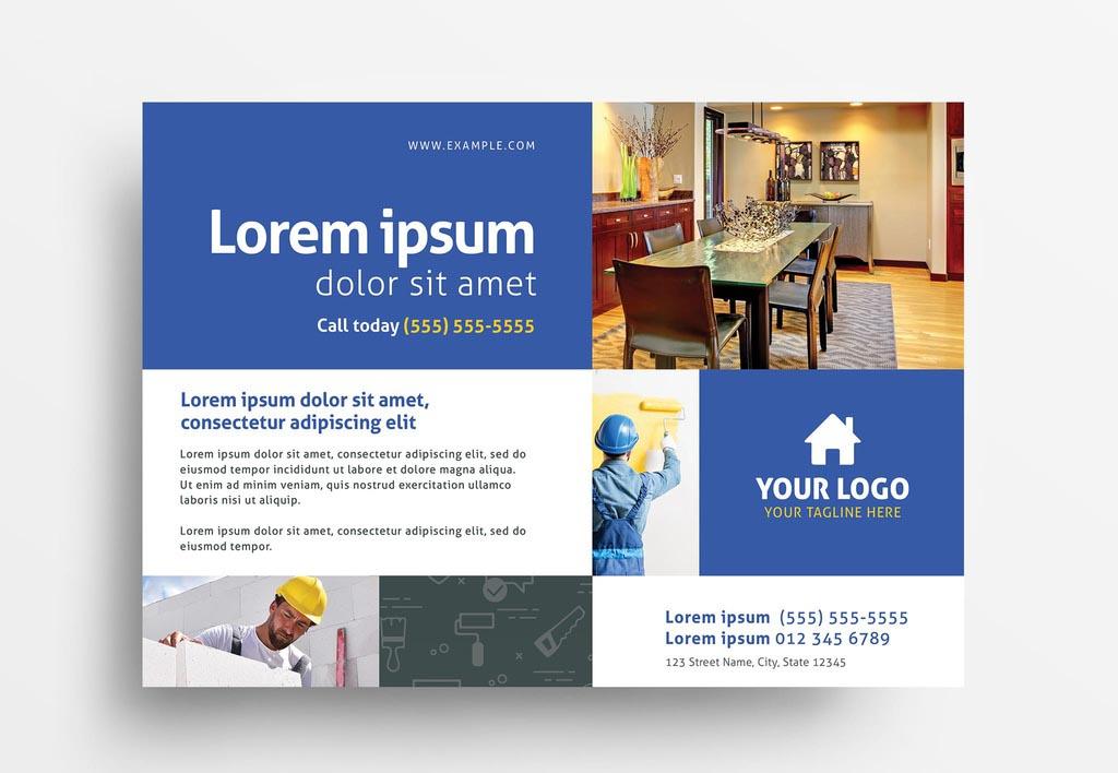 Handyman Construction Service InDesign Flyer Template