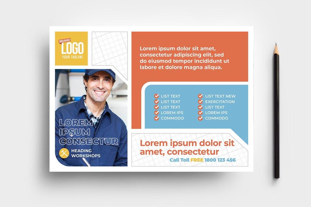 Handyman Contractor InDesign Flyer Template
