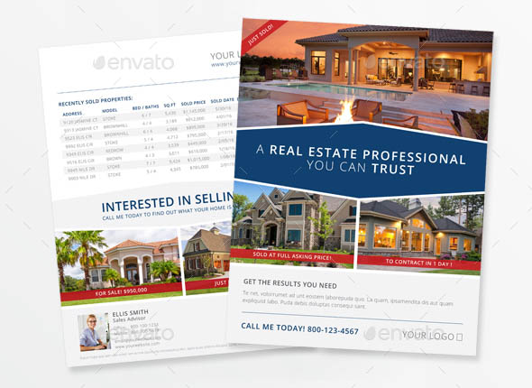 High-End Real Estate Flyer Template