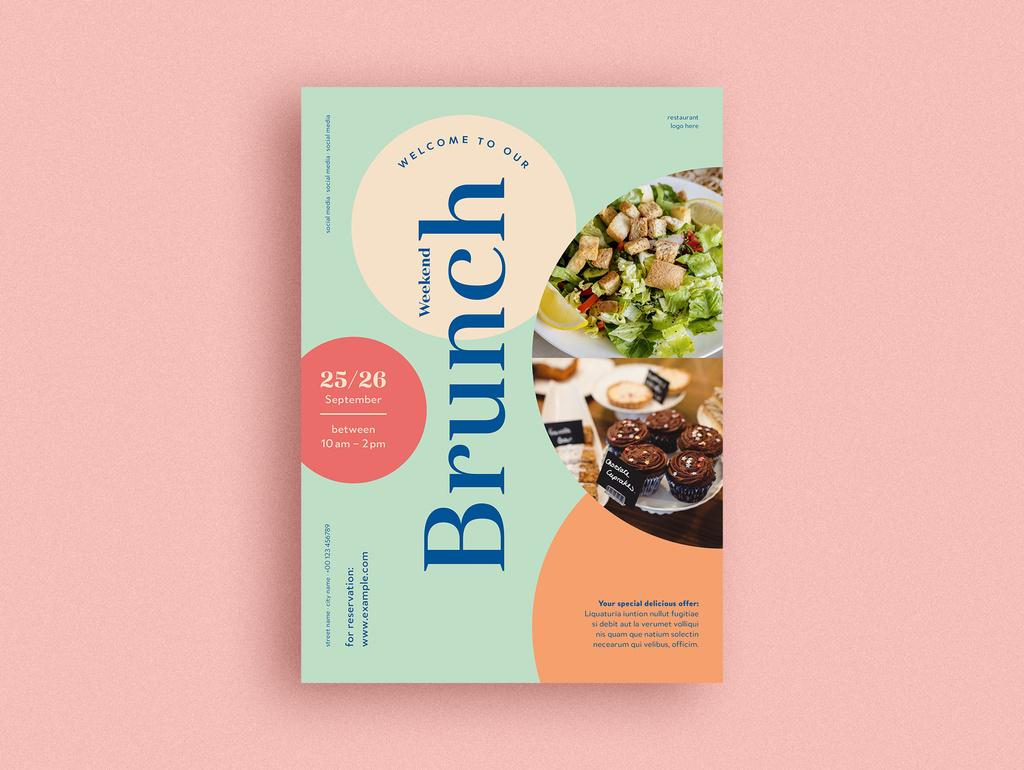 INDD Brunch Cafe Flyer for InDesign