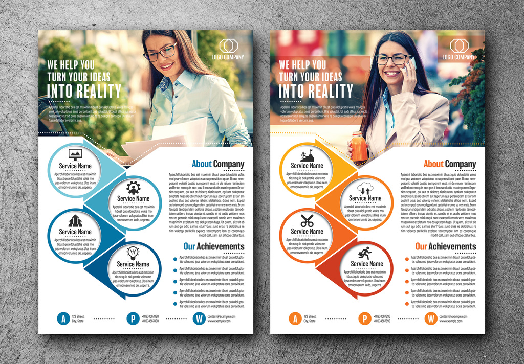 INDD Business Flyer Layouts