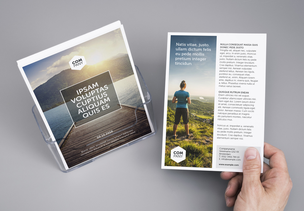 InDesign Flyer Template with Photo Placeholder