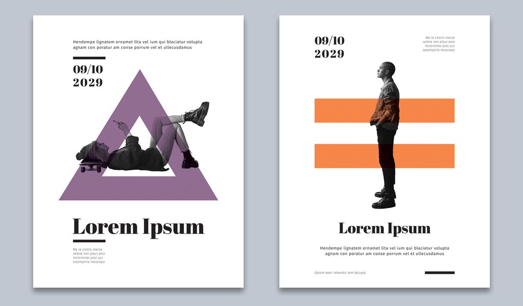 InDesign Flyer Templates with Geometric Symbols