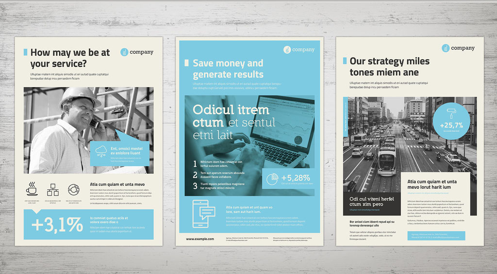 inDesign INDD Business Flyer Templates