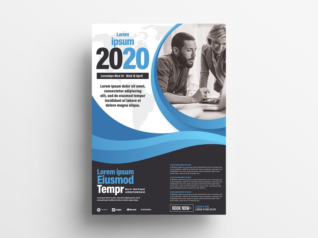 Corporate Event Seminar Flyer Template (InDesign INDD)