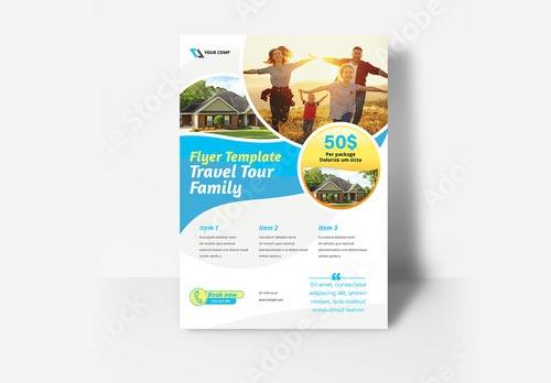 inDesign INDD Travel Flyer Layout