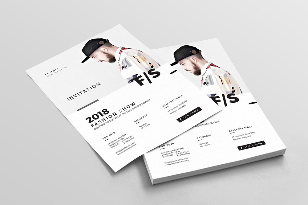 InDesign Invitation Flyer Template