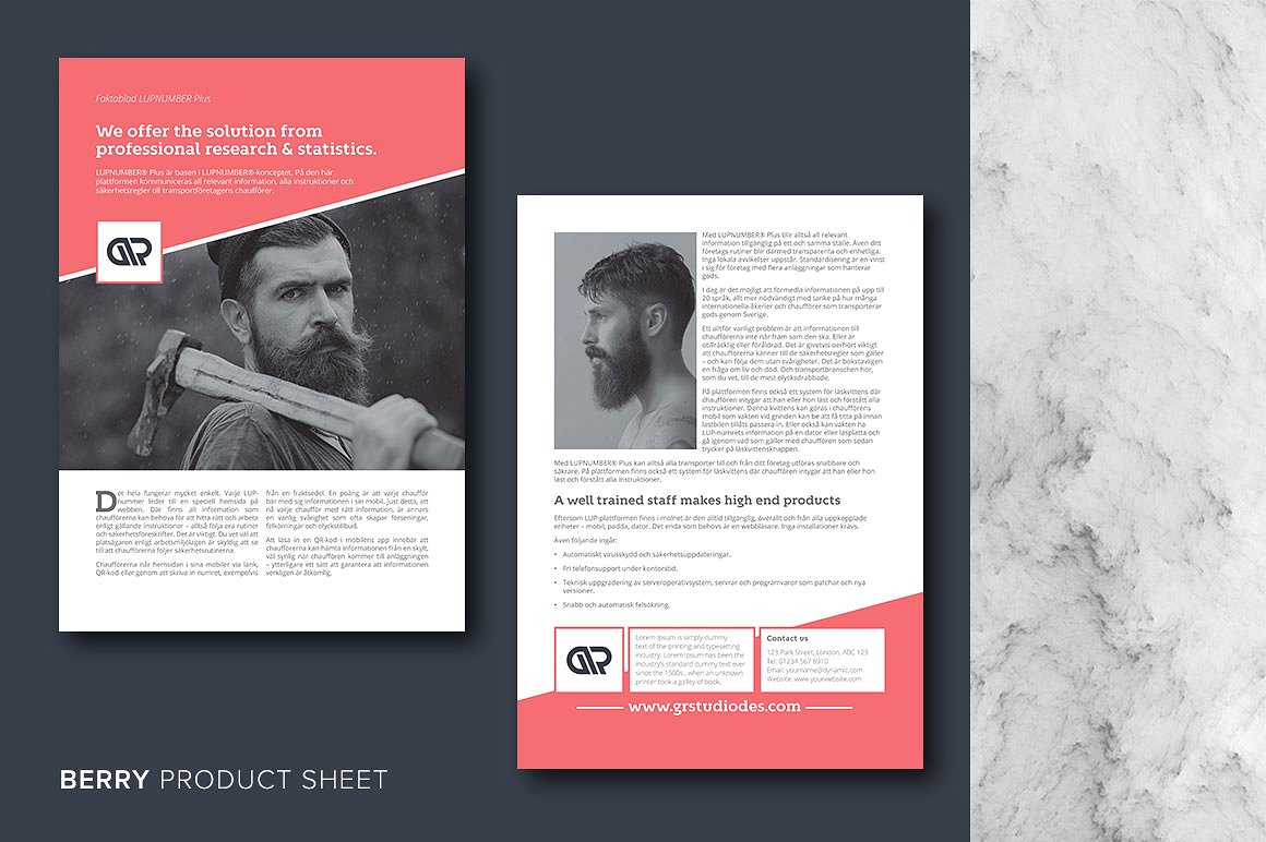 InDesign Product Sheet Template