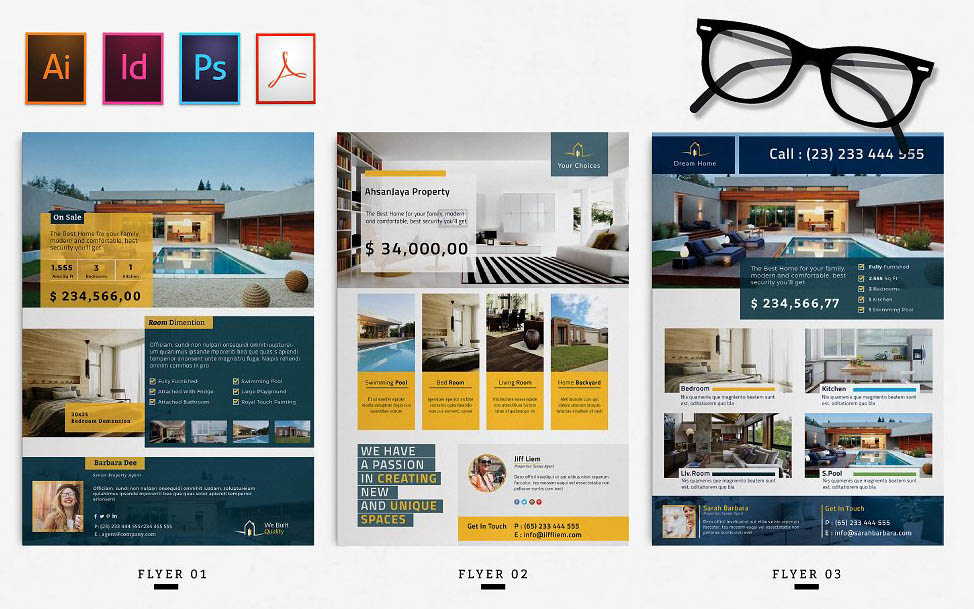 InDesign Real Estate Flyer Templates