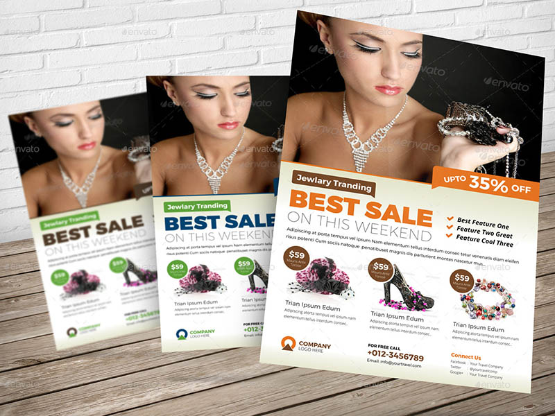 Jewellery Shop InDesign Flyer Template