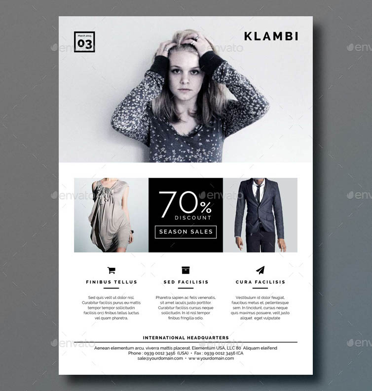 Klambi Fashion Flyer Template for InDesign