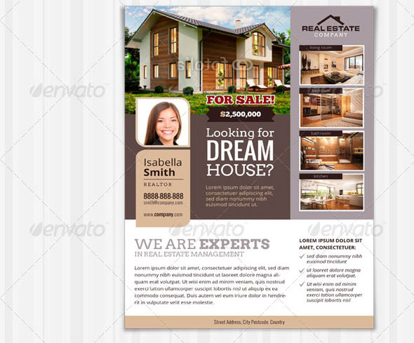 Luxurious Real Estate Flyer Template