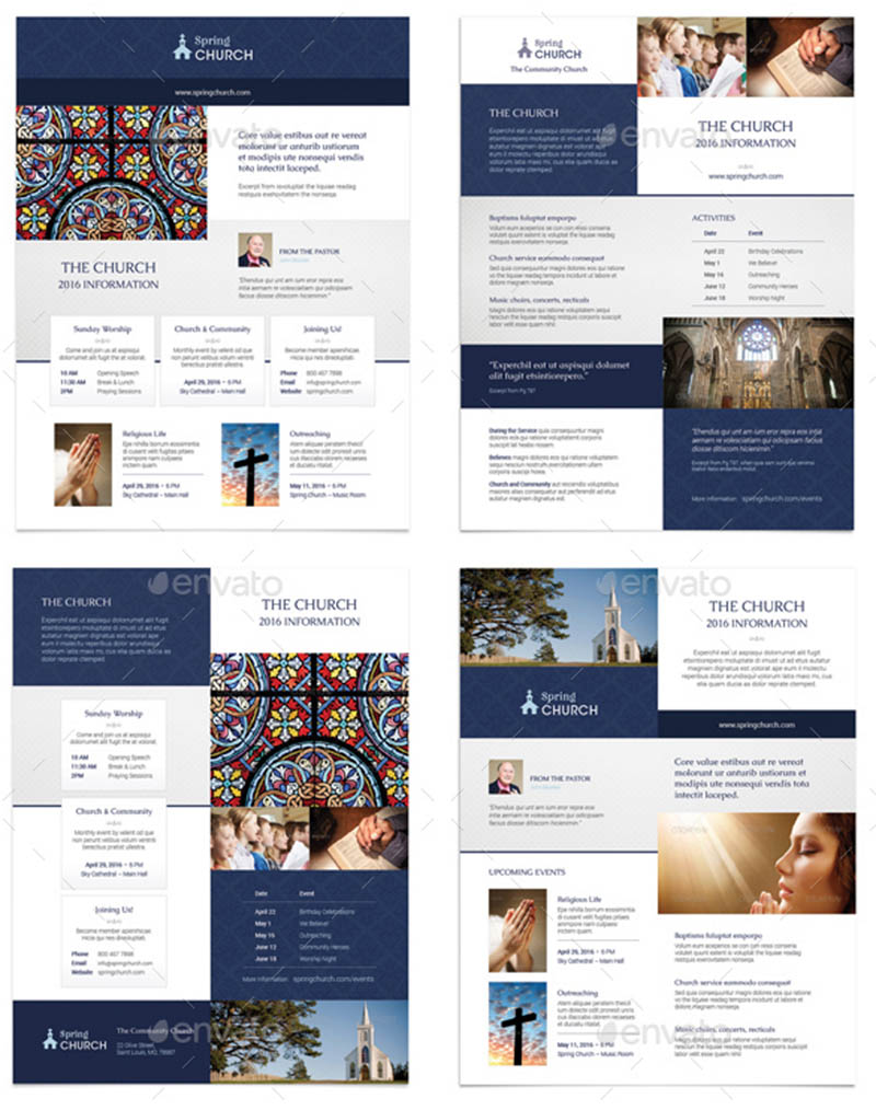 Modern Church Flyer Templates for InDesign