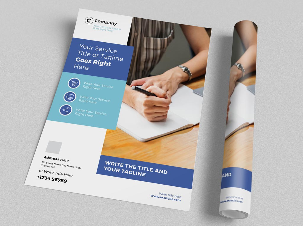 Modern Corporate Flyer Template for InDesign