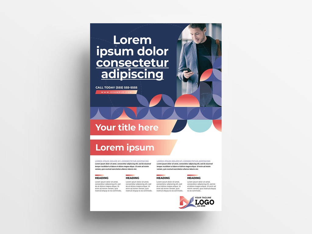Modern Corporate InDesign Flyer Template