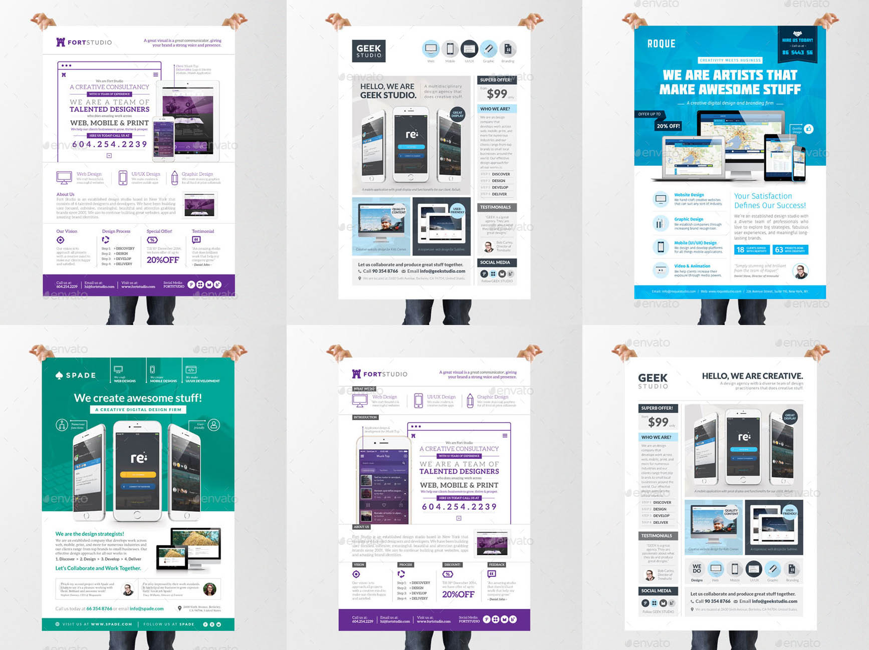 Multipurpose Business Flyer Templates for InDesign