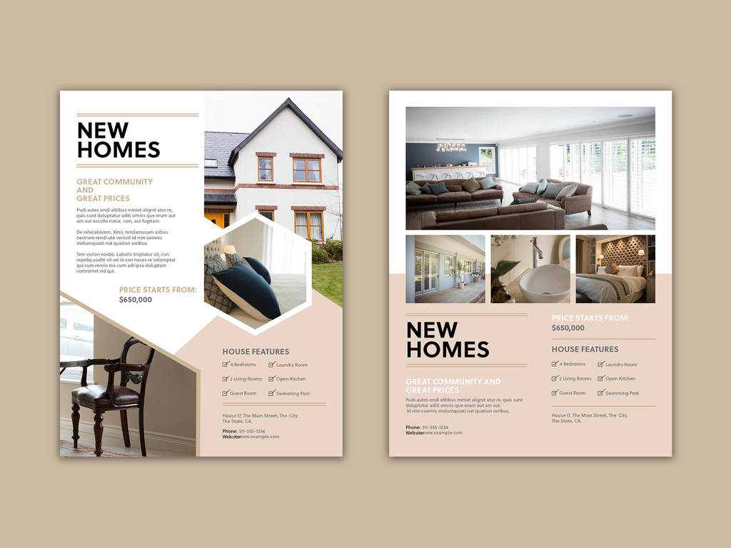 Product / Service Flyer Template for InDesign