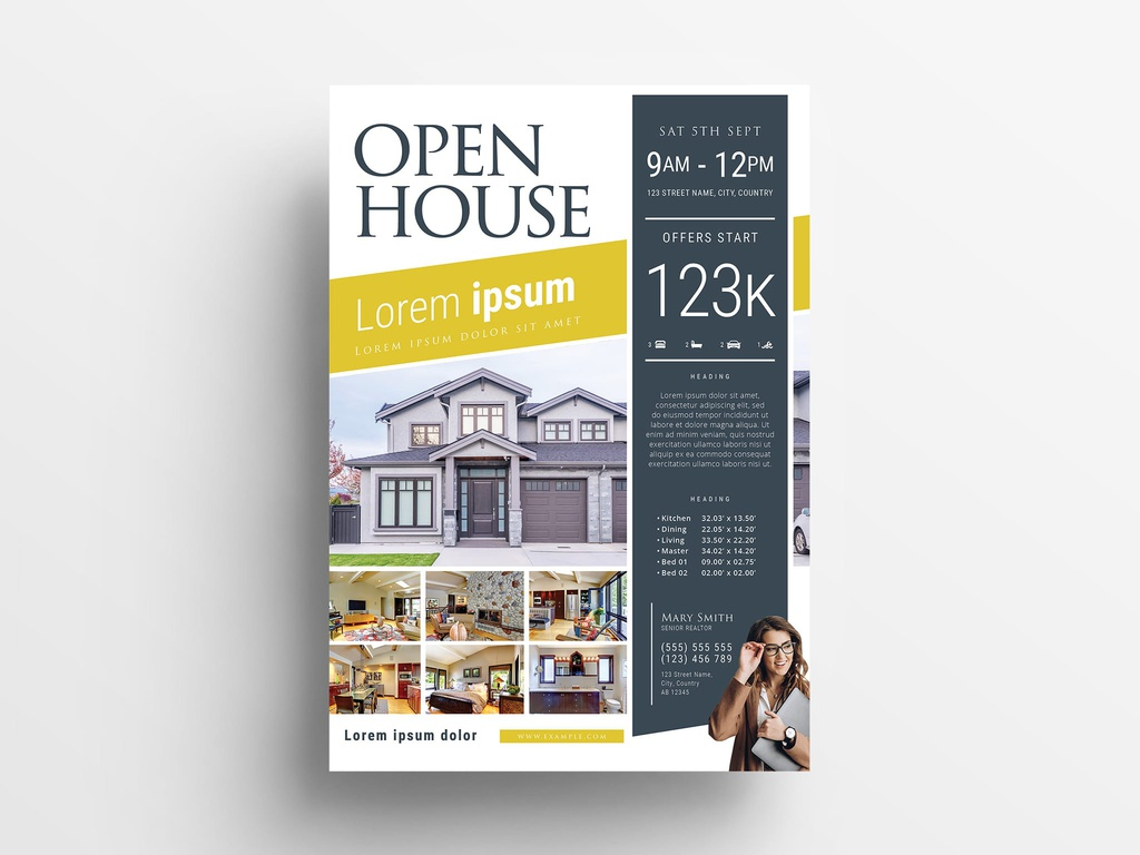 INDD Real Estate / Open House Flyer Template