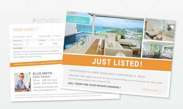 Real Estate Postcard Template for InDesign