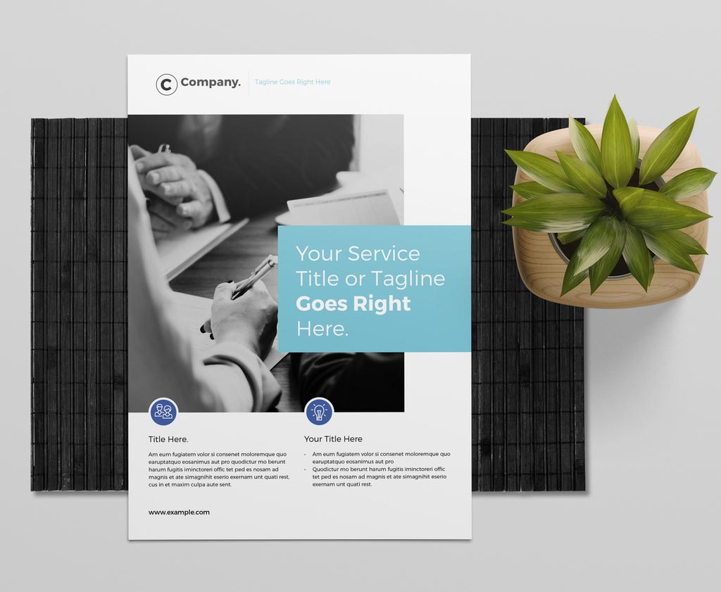 Simple InDesign Flyer Layout