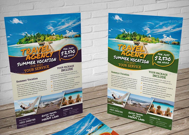 Travel Agency Flyer Template for InDesign