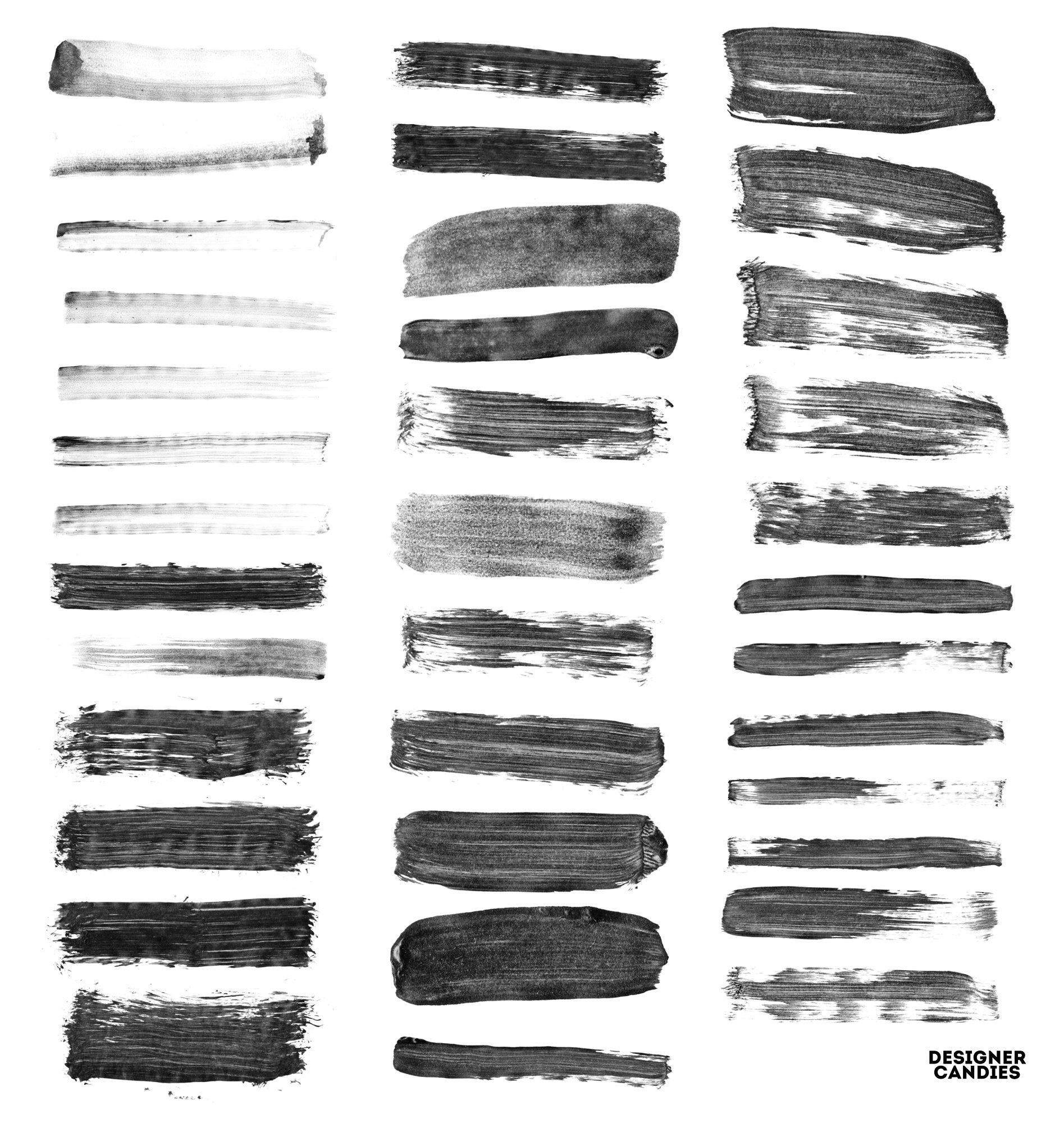 Wet Brush Stroke Brushes for Photoshop
