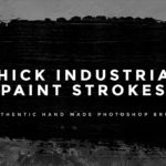 Thick Industrial Paint Stroke Brushes for Photoshop