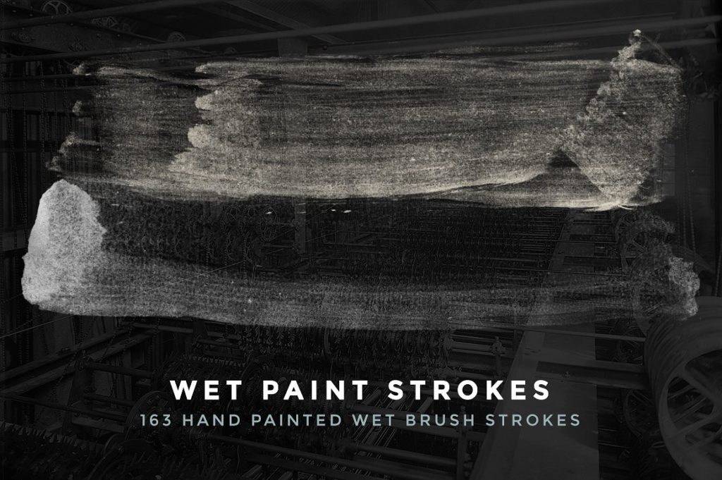 Wet Brush Strokes for Photoshop