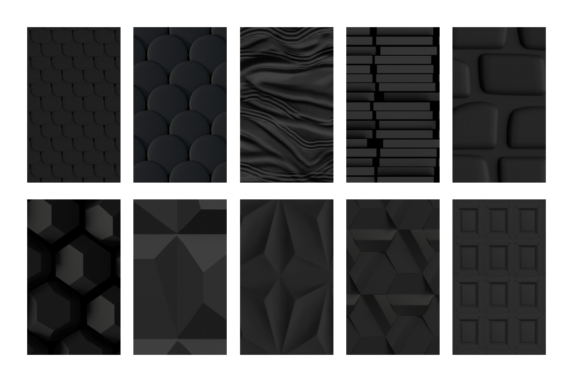 10 Black Patterns for Photoshop