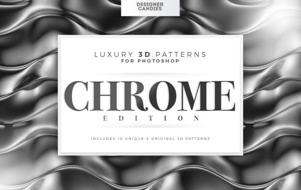 3D Chrome Patterns for Photoshop