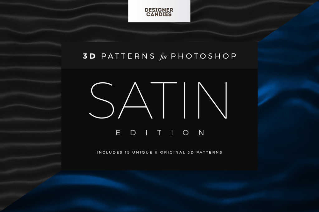 3D Satin / Silk Fabric Patterns for Photoshop