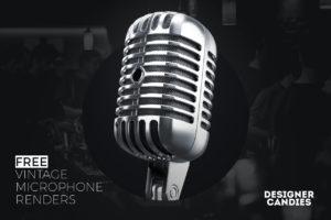 Free Vintage Microphone Renders