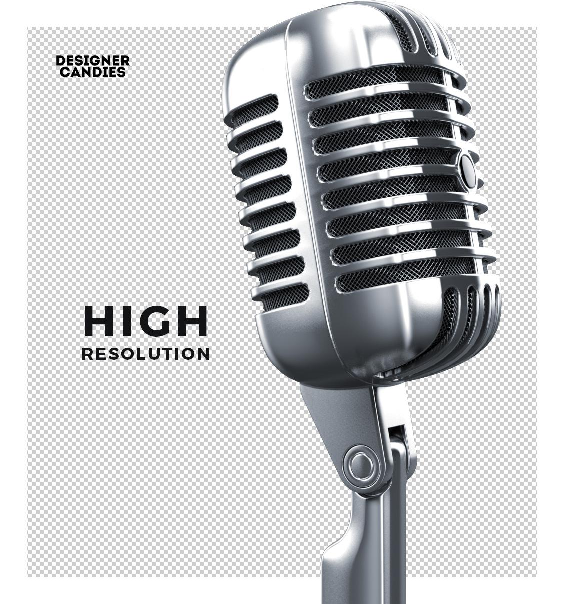 High Resolution Vintage Mic Render