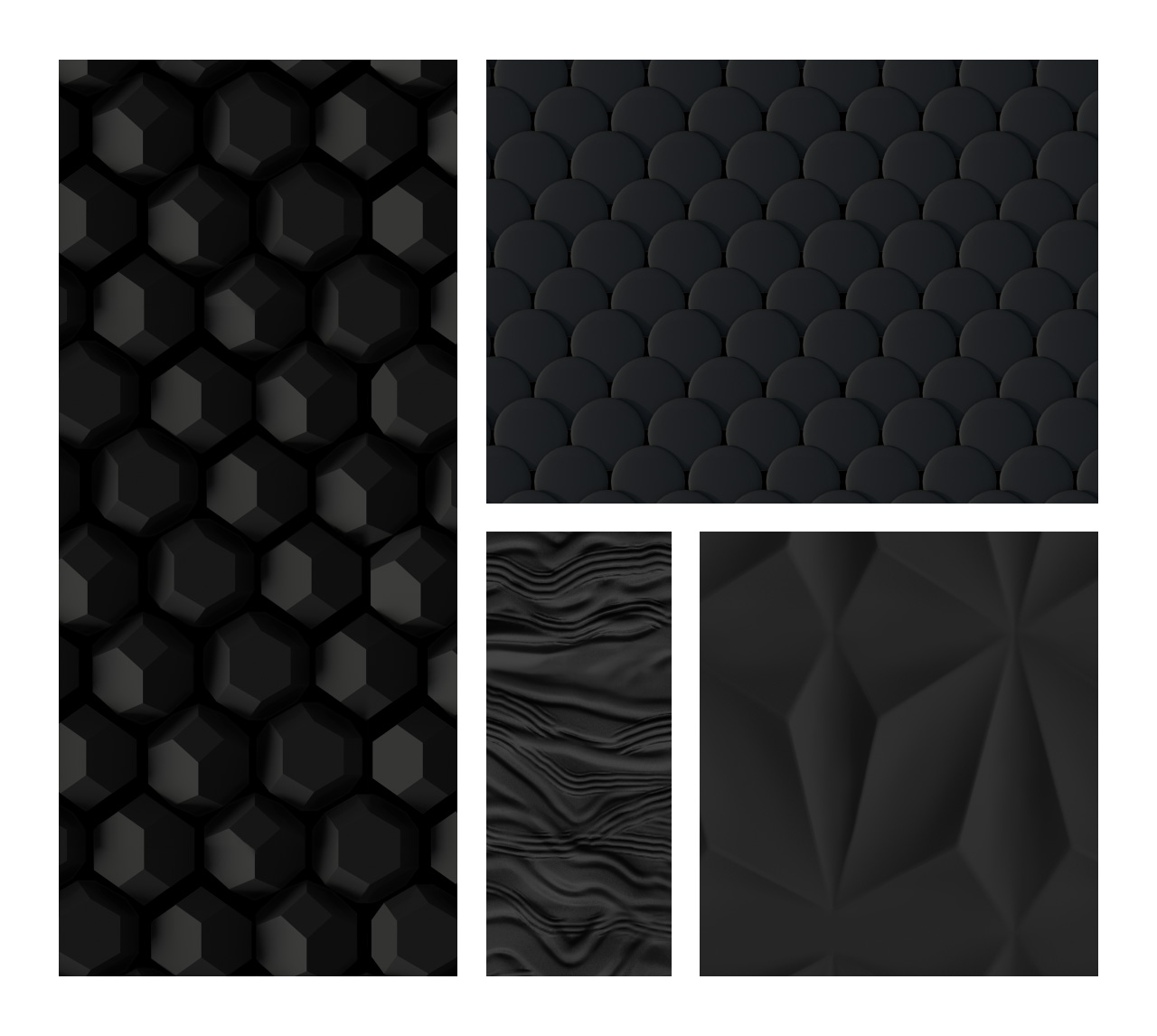 Matte Black Patterns Photoshop