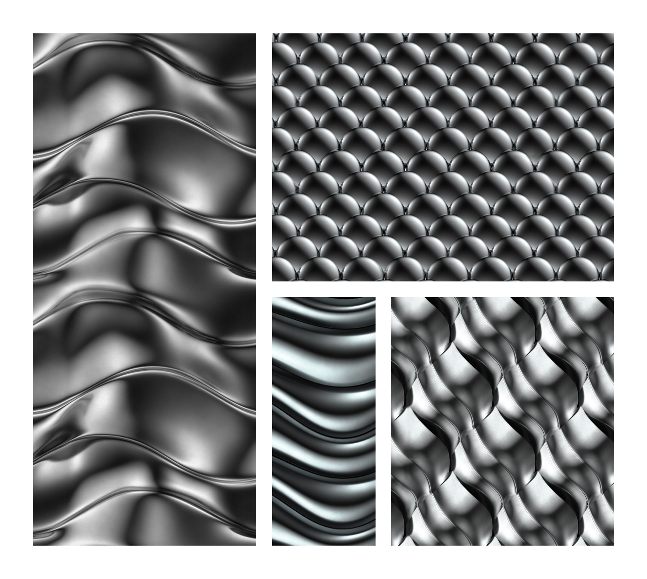 Seamless Chrome Patterns for Photoshop