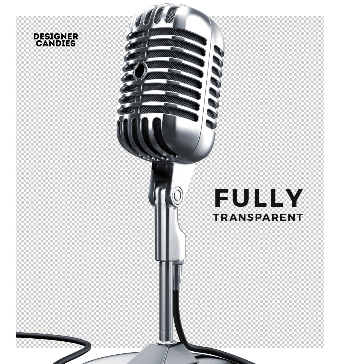 Full Transparent Microphone PNG