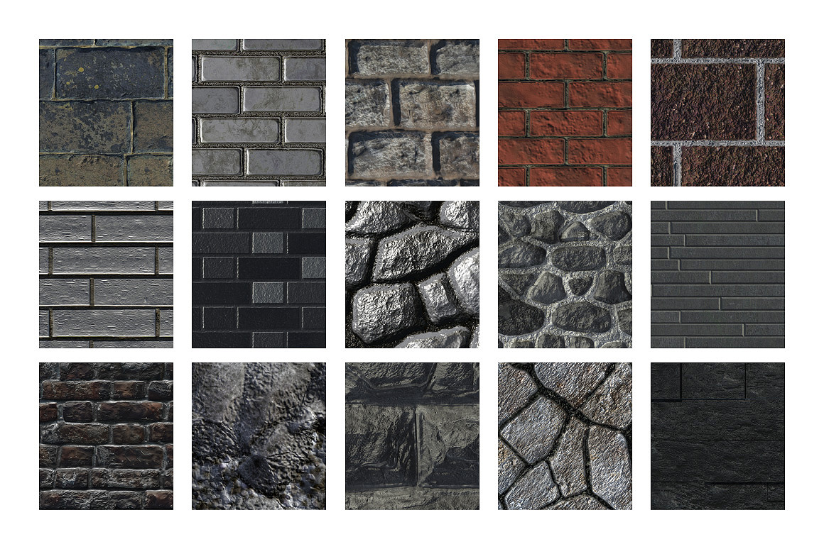 15 Stone Brick Patterns Tiles