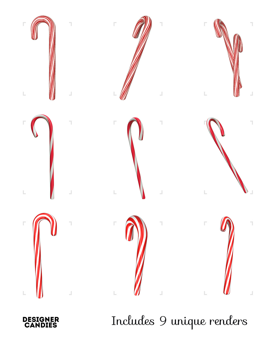 Free Candy Cane Renders in .PNG