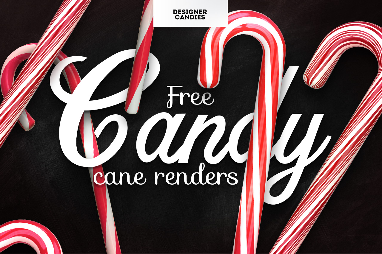 Free Candy Cane Renders in Transparent PNG
