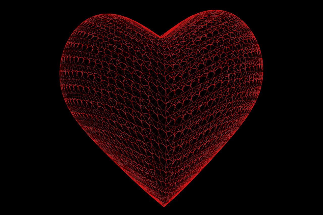 Love Heart Wireframe