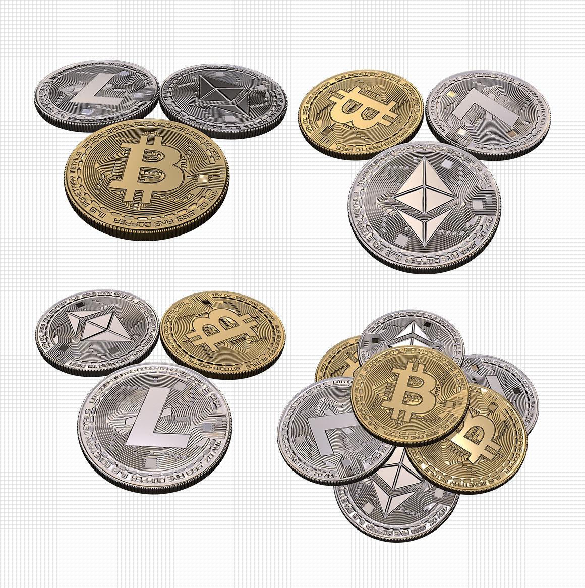 Transparent Cryptocurrency Renders