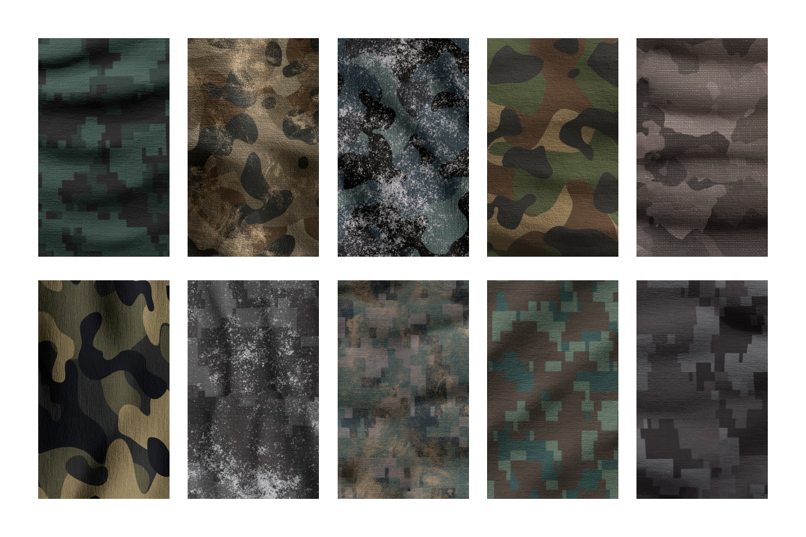 Military Camo Patterns in PSD
