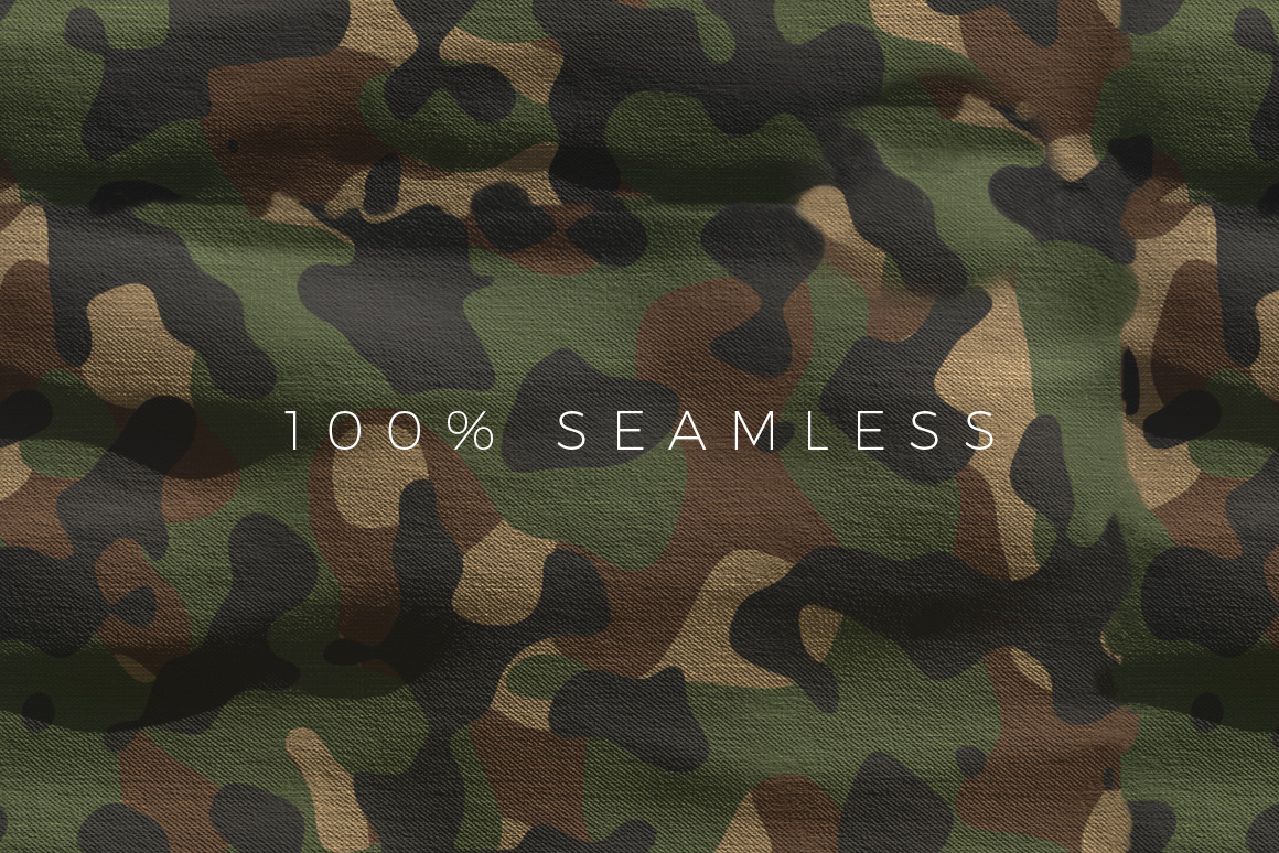 Seamless Camouflage Patterns for Photoshop