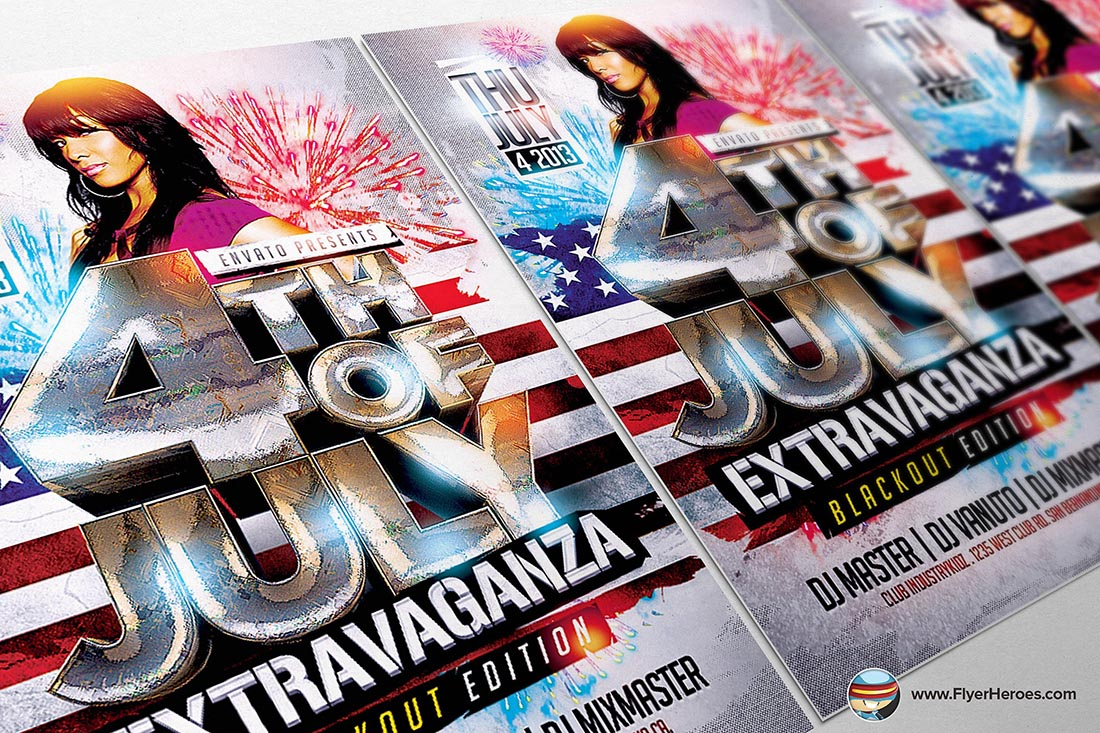 4th July Flyer Template by FlyerHeroes