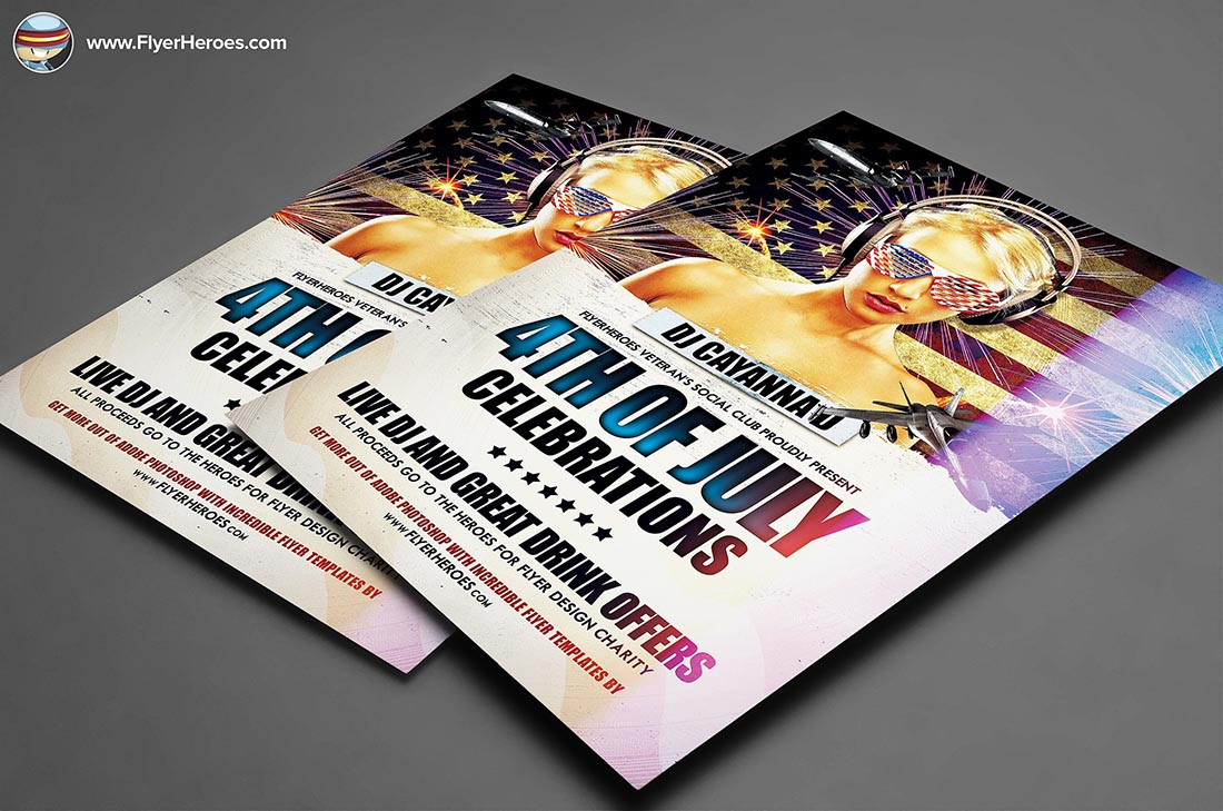 4th July PSD Party Flyer Template